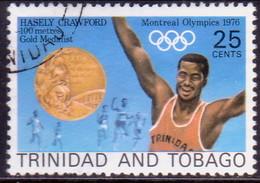 TRINIDAD & TOBAGO 1977 SG #501 25c Used Hasely Crawford - Trinidad & Tobago (1962-...)