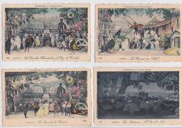 CHANTECLER Par Edmond Rostand - Lot De 8 Cartes Postales Pionnières ELD - Coq De Combat - Poule Faisan Crapaud Hibou - Théâtre