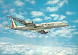 DOUGLAS SUPER DC-8 De ALITALIA AIRLINES  (scan Verso) - 1946-....: Modern Era