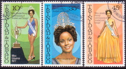 TRINIDAD & TOBAGO 1978 SG #517-19 Compl.set Used Miss Universe 1977 - Trinidad & Tobago (1962-...)
