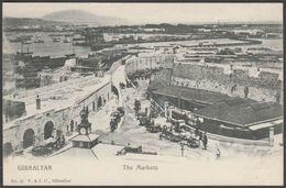 The Markets, Gibraltar, C.1900-05 - V & J Cumbo U/B Postcard - Gibraltar