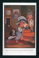 CPA: ILLUSTRATEUR LITTLE PITCHE - BONNE NUIT ET TOUS NOS VOEUX POUR L'ANNÉE PROCHAINE - Autres Illustrateurs