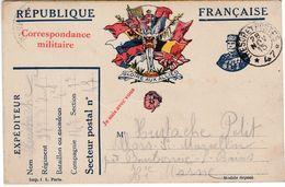 """Carte Franchise Militaire / Envoi """"Des Tranchées"""" 1915 / """"Gloire Aux Alliés"""" / 52 Villars St Marcellin / Bourbonne - 1914-18"""