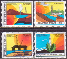 TRINIDAD & TOBAGO 1979 SG #539-42 Compl.set Used Latin American Geological Congress - Trinidad & Tobago (1962-...)