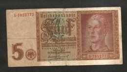 DEUTSCHLAND / GERMANY - 5 REICHSMARK (1942) - WWII - [ 4] 1933-1945 : Terzo  Reich