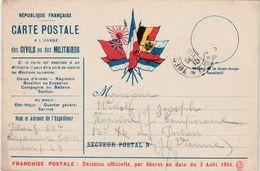 Carte Franchise Militaire 1915 / Soldat Téléphoniste SP 43 / Widolf Hôpital Temporaire 86 De Poitiers / Vienne - 1914-18