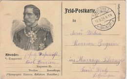 Carte Franchise Militaire 1914 / Guillaume II / Saarlouis Gare / Bahnhof / Deutschland / Allemagne / Marange Silvange - 1914-18