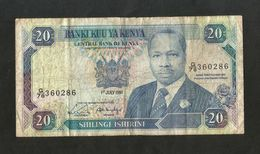 [NC] KENYA - CENTRAL BANK Of KENYA - 20 SHILLINGS (1991) - D. TOROITICH ARAP MOI - Kenia