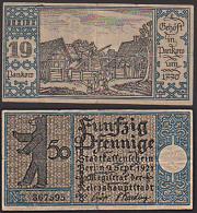 Berlin Abb. Gehöft In Pankow Um 1770, Berliner Bär Stadtkassenschein Magistrat Der Reichshauptstadt - Zwischenscheine - Schatzanweisungen