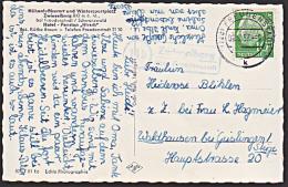"Zwieselberg über Freudenstadt PLGZ: 14b Poststellenstempel 1957, Foto -Ak Hotel Pension ""Hirsch"" - BRD"