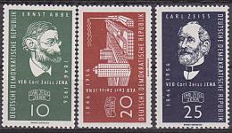 Carl Zeiss Jena Ernst Abbe Germany  DDR 545/47 ** - DDR