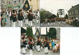 BIESMEREE : Lot De 9 Photos - Marche Entre Sambre Et Meuse 1997 - Mettet