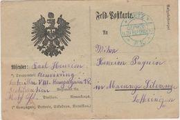 Carte Franchise Militaire 1914 / Aigle / Metz PK / Censure Geprüft / Bataillon Fortification / Vallières (10 ?) - 1914-18