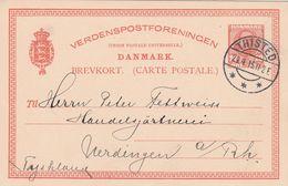 Danemark Entier Postal Pour L'Allemagne 1915 - Postal Stationery