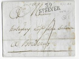 1813 - LANDES - LETTRE De ST SEVER Avec MARQUE 31X12 - IND 6 - 1701-1800: Précurseurs XVIII