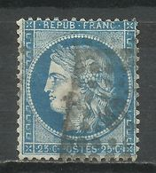 FRANCE , FRENCH , 20 Cts , Cérès , 1871 , N° YT  60 A , Oblitération Ambulant MP - 1871-1875 Ceres