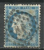 FRANCE , FRENCH , 20 Cts , Cérès , 1871 , N° YT  60 C , Oblitération Ambulant MP - 1871-1875 Ceres