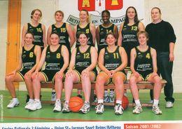 SAINT JACQUES SPORT  Groupe De La Saison 2001/2002 - Basket-ball