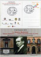 Italia 2018 Bologna Gugliemo Marconi Mostra Marconiana Annullo Cartolina Dedicata - Télécom