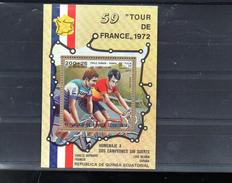 GUINEE EQUATORIALE MICHEL BLOC 72 **SUR CYRILLE GUIMARD POUR LE TOUR DE FRANCE 1972 - Equatorial Guinea