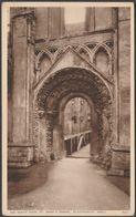 The North Door, St Mary's Chapel, Glastonbury Abbey, Somerset, C.1940 - Walter Scott Postcard - Other