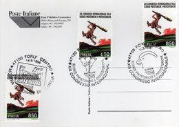 Italia 1996 Forlì XIII Congresso Int.le Scienze Preistorice E Protostoriche Annulli Cartolina - Archeologia