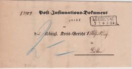 PREUSSEN  1870 POST INSINUATIONS DPKUMENT VON LÜBBENAU - Preussen (Prussia)
