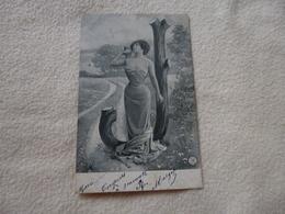 BELLE ILLUSTRATION ...JEUNE FEMME..LETTRE J ..SIGNE ALTEROCCA TERNI - Illustratori & Fotografie