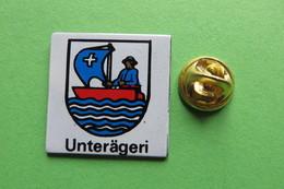 Pin's, Ville, Blason, UNTERÄGERI, Suisse, Wappen - Cities