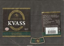 "Drink Kvass Tērvetes ""Saimes"" Labels - Labels"