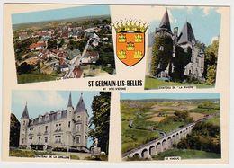 HAUTE-VIENNE - SAINT-GERMAIN-LES-BELLES - MULTIVUES - BLASON - Saint Germain Les Belles