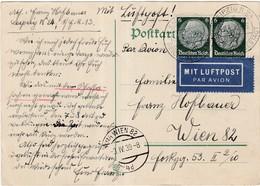 Postkarte Leipzig Flugpost - Mitteilung