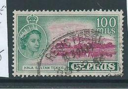 Cyprus 1955 QEII Definitives 100 Mils Hala Sultan Tekke FU - Chypre (République)
