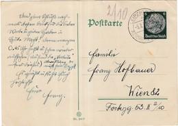 Postkarte Leipzig - Mitteilung