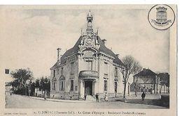 JONZAC  CAISSE EPARGNE  BLD DENFERT ROCHEREAU  PERSONNAGES  DEPT 17 - Jonzac