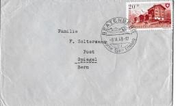 """100 - 46 - Enveloppe Avec Timbre Pro Patria Et Cachet Illustré """"Beatenberg 1948"""" - Marcophilie"""