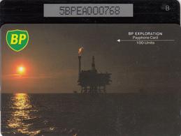 BT Oil Rig Phonecard - British Petroleum 100unit (5BPEA) - Superb Fine Used Condition - Ver. Königreich