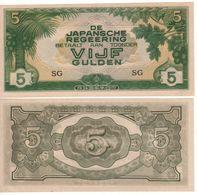 NETHERLANDS INDIES    5 Gulden      P124c     ( ND 1942 ) - Dutch East Indies