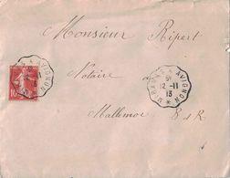 VAUCLUSE - MIRAMAS A AVIGNON - CONVOYEUR LIGNE - LETTRE AVEC TEXTE DE SALON DE PROVENCE POUR MALLEMORT - LE 12-11-1913. - Poststempel (Briefe)