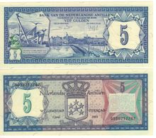 NETHERLANDS  ANTILLES    5 Gulden      P15b   ( 1984 )  UNC - Netherlands Antilles (...-1986)