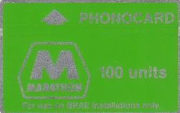 BT  Oil Rig Phonecard- Marathon- 100units - Superb Fine Used Condition - Ver. Königreich