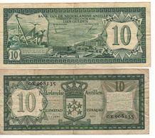 NETHERLANDS  ANTILLES    10 Gulden      P9b   ( 1972 ) - Netherlands Antilles (...-1986)