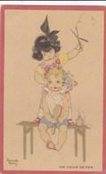 ARMANDE MARTIN ,illustrateur,carte D'enfants ,avec Publicitée Au Dos , CHAUSSURES RAOUL - Marquer