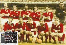 CARTE MAXIMUM - MAXIMUM CARD - PORTUGAL - SPORT LISBOA ET BENFICA - CHAMPION D'EUROPE 1960/61 ET 1962/63 - Clubs Mythiques