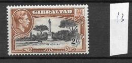 1938 MH Gibraltar, Perf 13 - Gibraltar