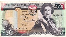 JERSEY 50 POUNDS ND 1993 VF P-24a (free Shipping Via Registered Air Mail) - Jersey