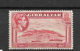 1938 MH Gibraltar, Perf 14 - Gibraltar