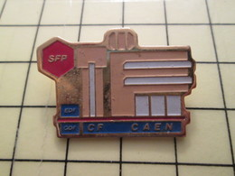 Pin910d Pin's Pins / Beau Et Rare : EDF GDF / SFP CF CAEN - EDF GDF