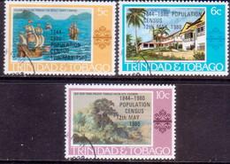 TRINIDAD & TOBAGO 1980 SG #560-62 Compl.set Used Population Census - Trinidad & Tobago (1962-...)