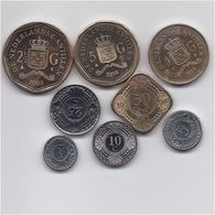 NETHERLAND ANTILLES 8 COINS HIGH GRADE SET - Netherland Antilles